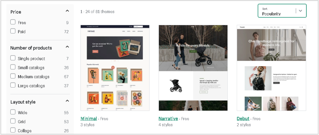Shopify for artists-theme shop